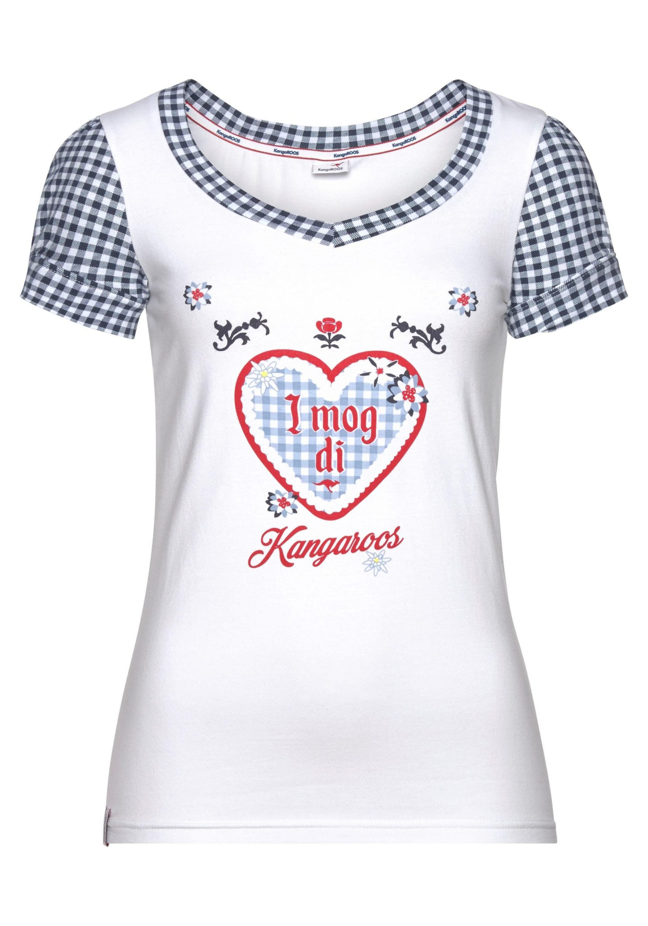 Kangaroos Shirt Shirt In Kangaroos In Kangaroos NachtblauWeiß NachtblauWeiß 5A3jL4R
