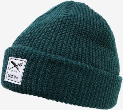 Iriedaily Bonnet 'Kreuzkoelln' en vert foncé, Vue avec produit