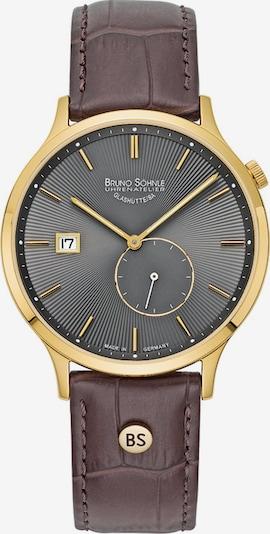 Bruno Söhnle Uhr in kastanienbraun / gold / basaltgrau, Produktansicht