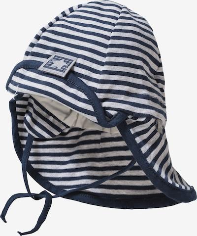 STERNTALER Sonnenhut mit Nackenschutz zum Binden in blau / weiß, Produktansicht