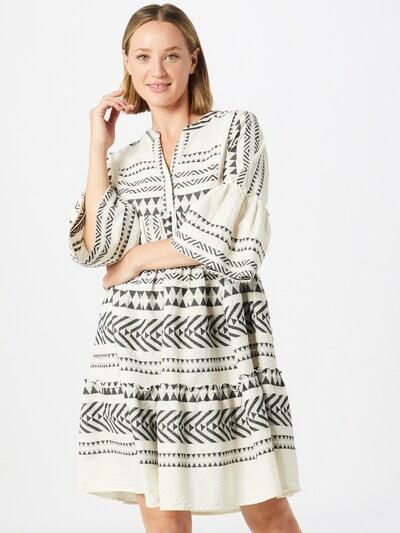TOM TAILOR Kleid in schwarz / weiß, Modelansicht
