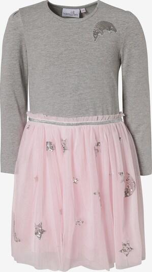 happy girls Kleid in grau / rosa: Frontalansicht