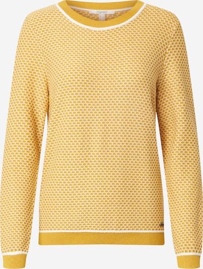 ESPRIT Pull-over en jaune / blanc, Vue avec produit