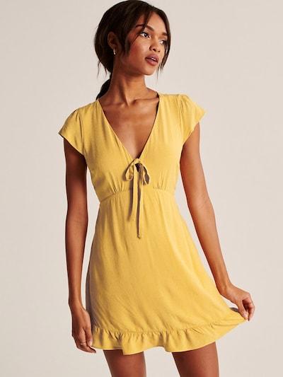 Abercrombie & Fitch Kleid 'Babydoll' in gelb, Modelansicht