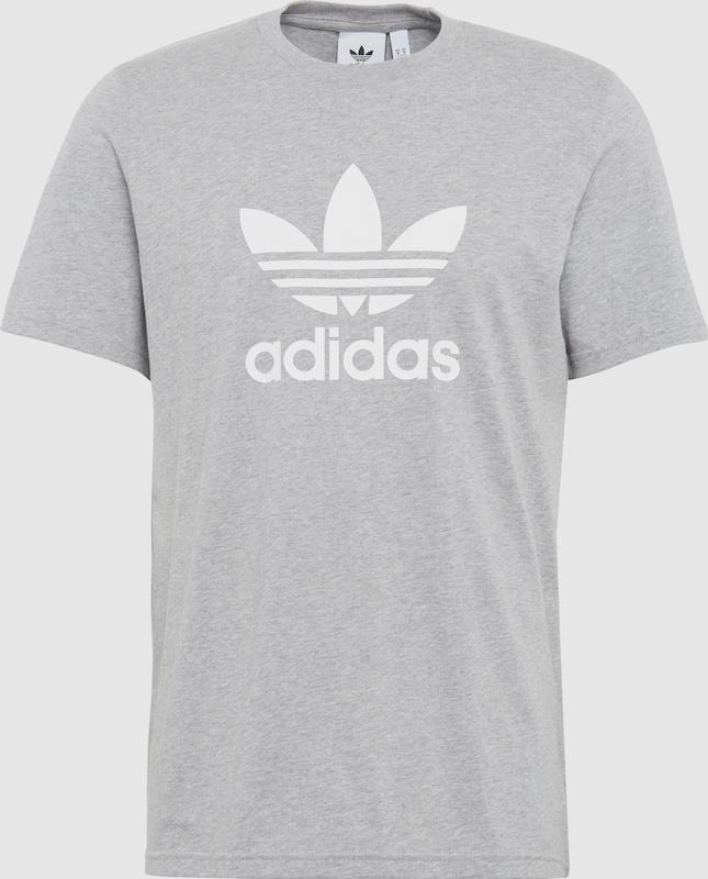 85377d681ee ADIDAS ORIGINALS Shirt 'TREFOIL' in Grijs gemêleerd / Wit | ABOUT YOU