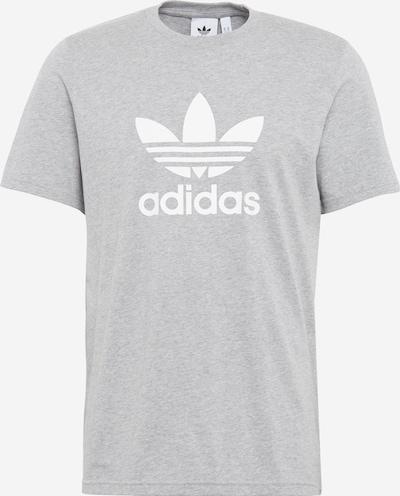 ADIDAS ORIGINALS Tričko 'TREFOIL' - šedý melír / bílá, Produkt