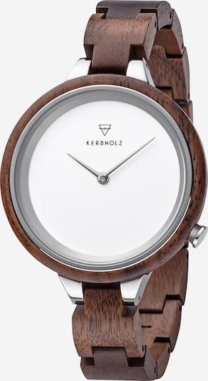 Kerbholz Armbanduhr 'Hinze' in braun, Produktansicht