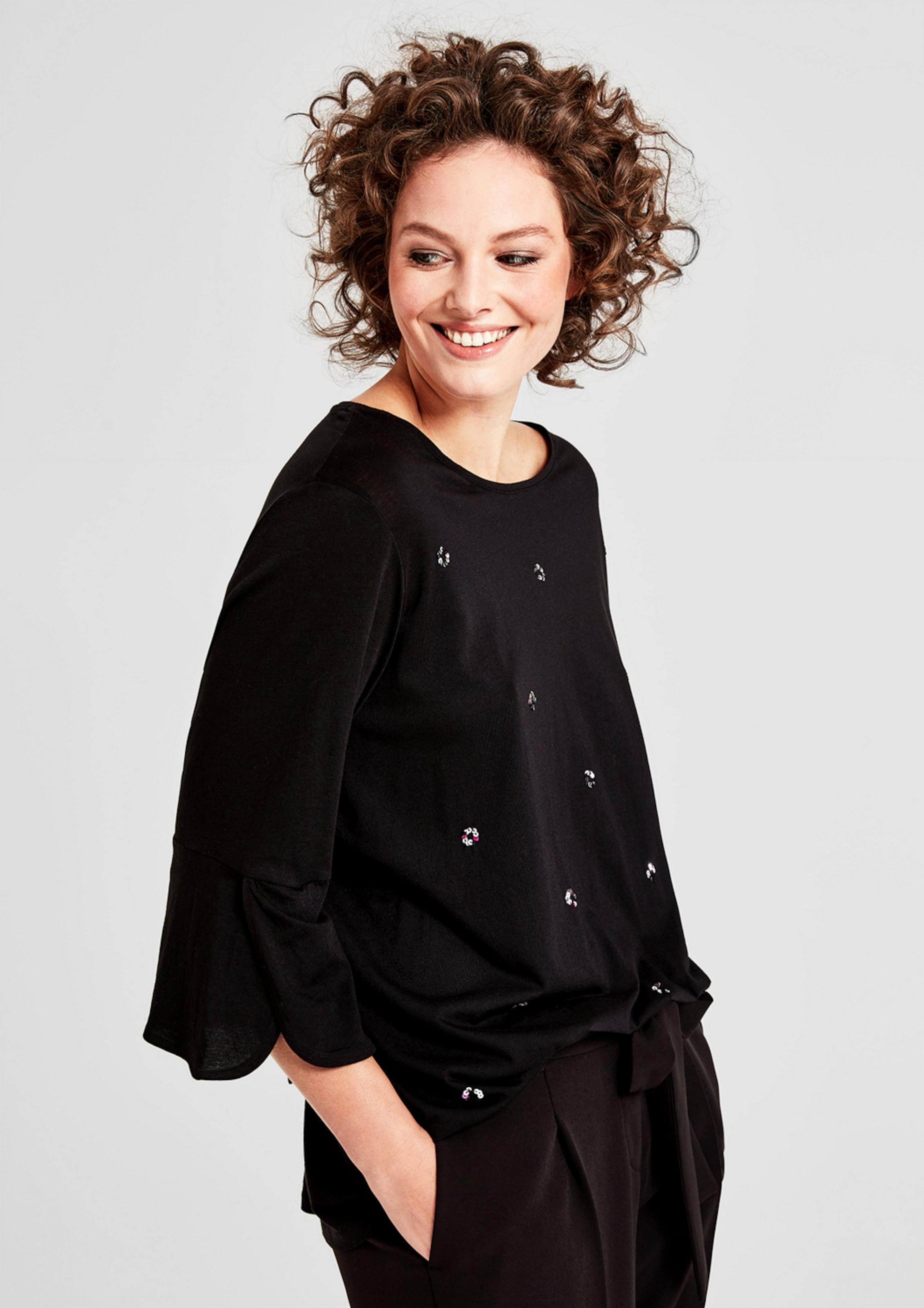 Spielraum Erstaunlicher Preis TRIANGLE Jerseyshirt mit Pailletten Strapazierfähiges Größte Anbieter Bester Verkauf Zum Verkauf 83VLVcAPEB