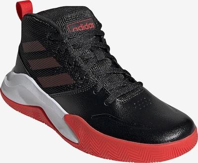 ADIDAS PERFORMANCE Sportschuh 'OWNTHEGAME' in rot / schwarz / weiß, Produktansicht
