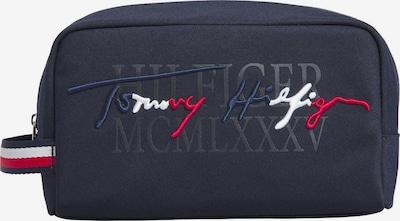 TOMMY HILFIGER Kulturtasche in kobaltblau / dunkelblau / rot / weiß, Produktansicht