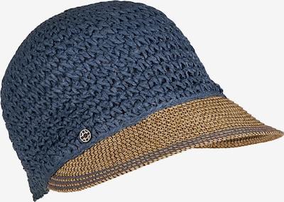 LOEVENICH Kappe ' gehäkelt ' in beige / blau, Produktansicht
