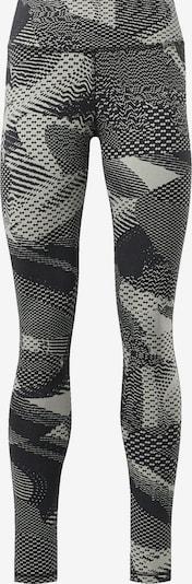 REEBOK Leggings in basaltgrau / hellgrau, Produktansicht