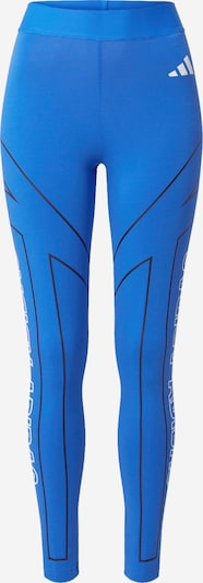 ADIDAS PERFORMANCE Sportbroek 'W Graphic Tight' in de kleur Blauw / Zwart / Wit, Productweergave
