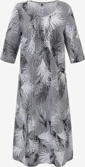 Anna Aura Leinenkleid in grau / schwarz / weiß, Produktansicht