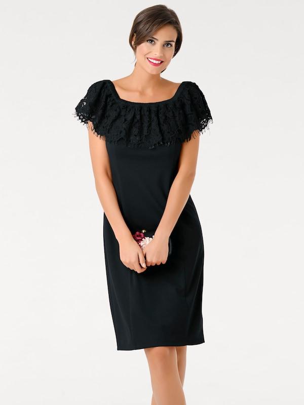 ashley brooke by heine spitzenkleid mit carmenausschnitt in schwarz about you. Black Bedroom Furniture Sets. Home Design Ideas