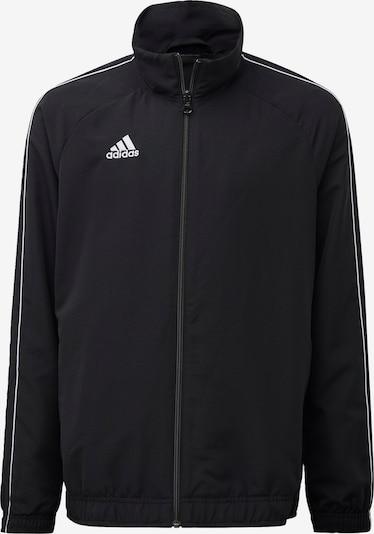 ADIDAS PERFORMANCE Sport-Jacke 'Core 18' in schwarz / weiß, Produktansicht