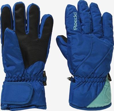 Roeckl SPORTS Fingerhandschuh 'ALBERTA' in blau / türkis / schwarz, Produktansicht