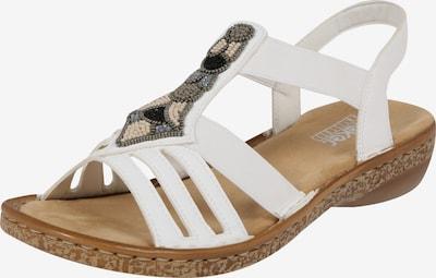 Sandale cu baretă RIEKER pe alb, Vizualizare produs