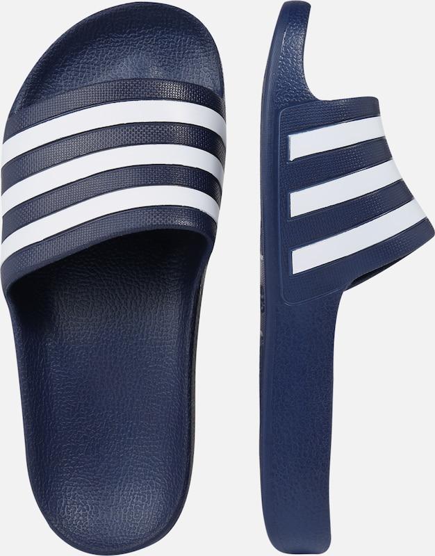 Foncé Originals 'adilette Bleu ClaquettesTongs En Adidas Aqua' Blanc 7gfYb6y