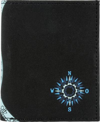 OXMOX Geldbörse 'New Cryptan' in blau / azur / schwarz, Produktansicht