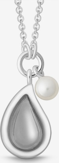 Quinn Kette in grau / silber / perlweiß, Produktansicht