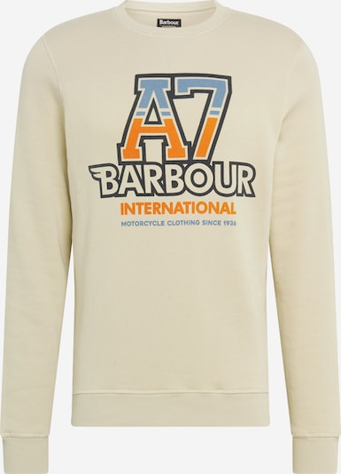 Barbour International Sweater majica 'Mist' u bež / sivkasto plava / narančasta / crna, Pregled proizvoda