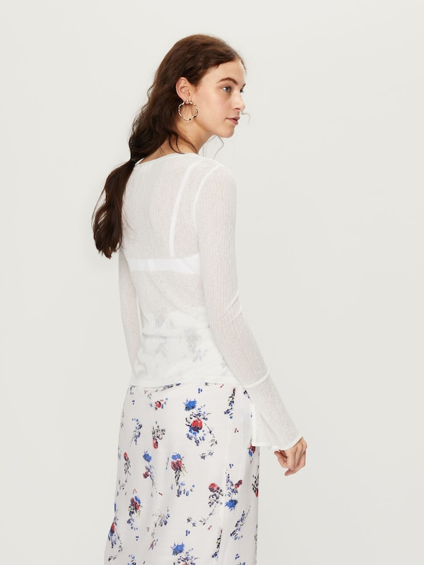 shirt Blanc 'zehra' En Edited T QWxBordCe