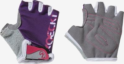 Roeckl SPORTS Fahrradhandschuhe 'TITO' in hellgrau / lila / pink, Produktansicht