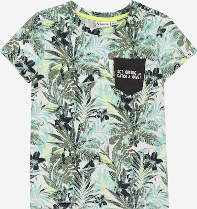 GARCIA Shirt in türkis / grün / weiß, Produktansicht