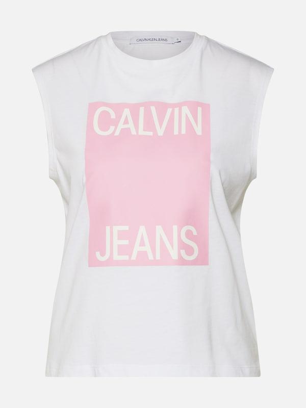 d6a78948ba Calvin Klein Jeans Top világos-rózsaszín / fehér színben | ABOUT YOU