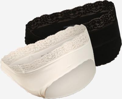 MAMALICIOUS Spodnje hlače 'Alisa' | črna / bela barva, Prikaz izdelka