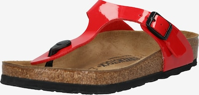 BIRKENSTOCK Sandals 'Gizeh' in Red / Black, Item view
