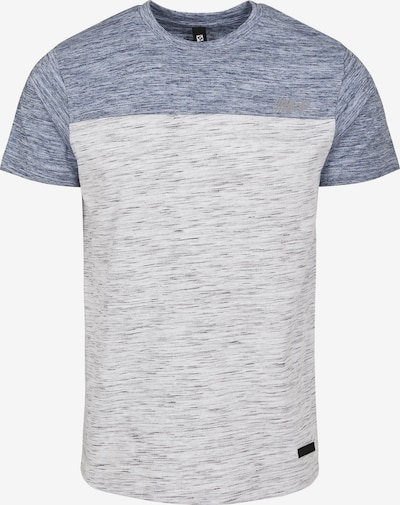 SOUTHPOLE Shirt 'Color Block Tech Tee' in de kleur Smoky blue / Natuurwit, Productweergave