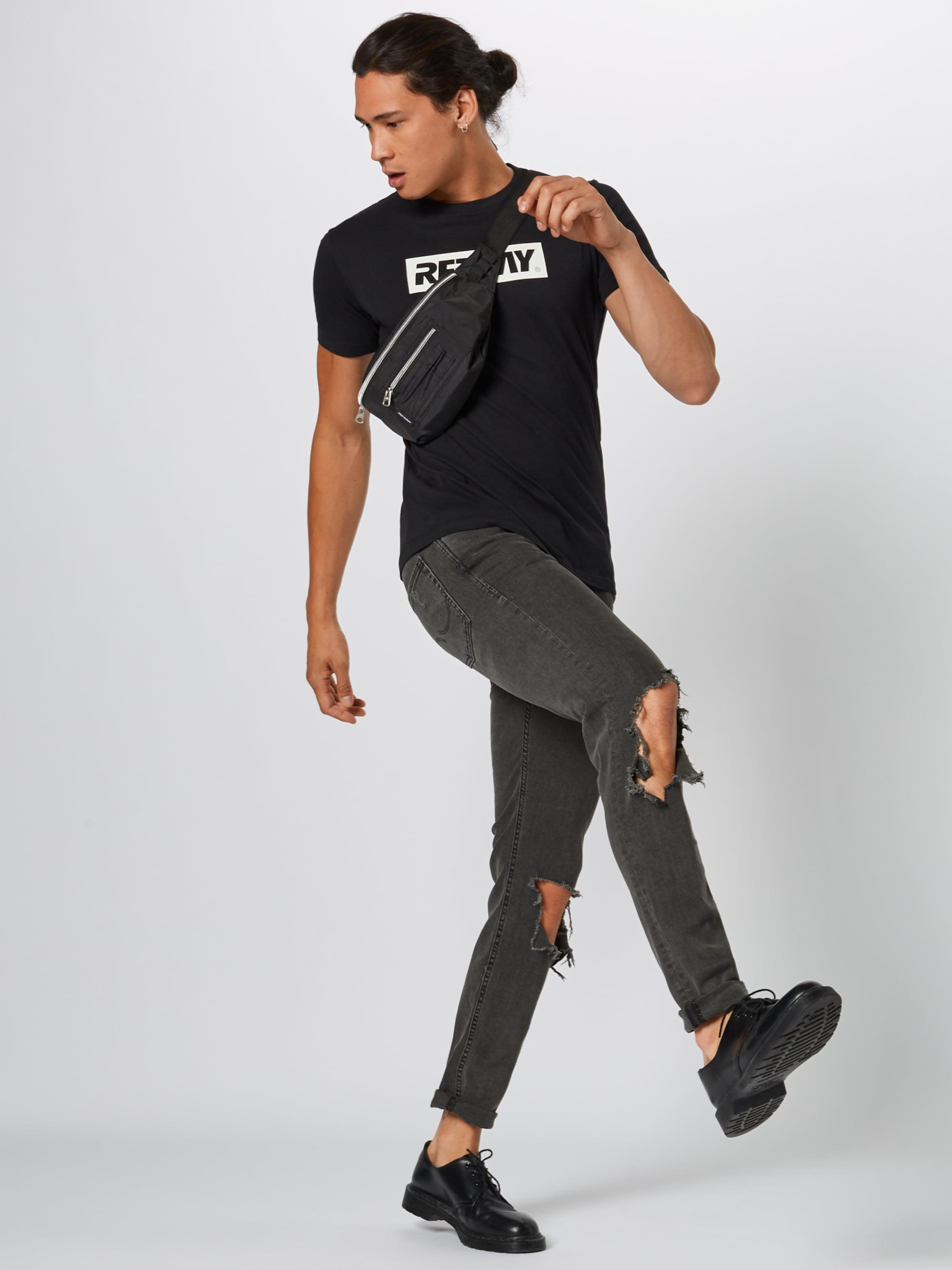 Replay T Replay Schwarz In T shirt 2DeIH9EWY