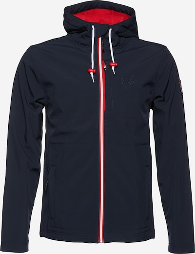 Derbe Softshelljacke 'Isle of Skye' in navy / rot, Produktansicht