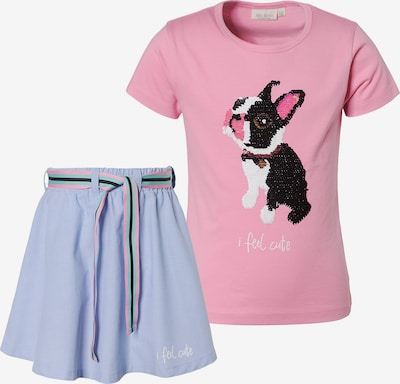 myToys-COLLECTION Set T-Shirt + Rock in rauchblau / pink, Produktansicht