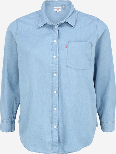 Levi's® Plus Bluse in blue denim, Produktansicht