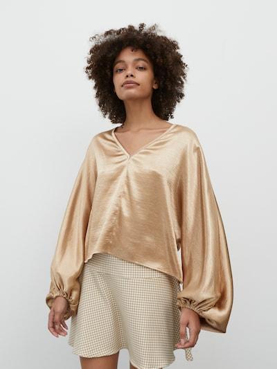EDITED Blouse 'Fine' in de kleur Brons, Modelweergave