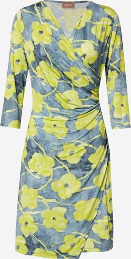 Cartoon Kleid in taubenblau / neongelb, Produktansicht