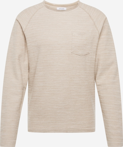 JACK & JONES Mikina 'JJETERRY SWEAT O-NECK NOOS' - béžová, Produkt