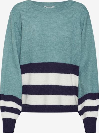 mbym Pullover 'Kadie' in navy / himmelblau / weiß, Produktansicht