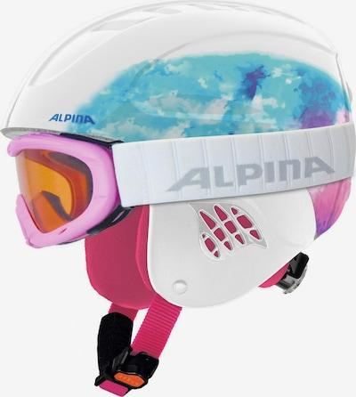 Alpina Skihelm 'CARAT' in blau / pink / weiß, Produktansicht
