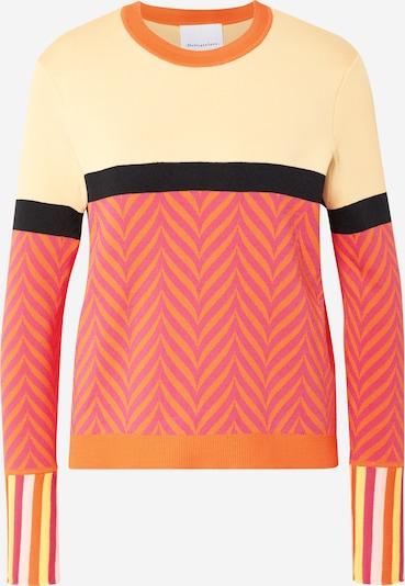 DELICATELOVE Pullover 'Sunny' in beige / mischfarben / orange / pink / schwarz, Produktansicht