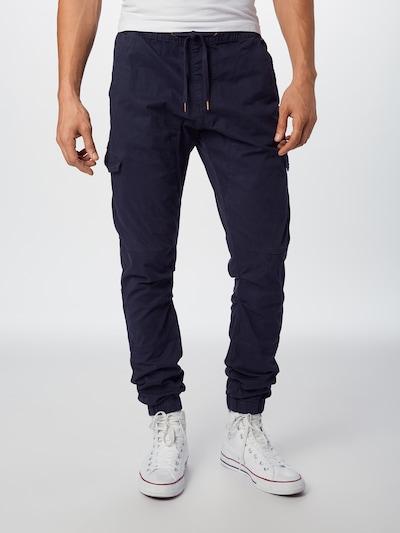 INDICODE JEANS Kargo hlače 'Levy' | mornarska barva, Prikaz modela