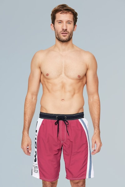 CAMP DAVID Badehose in pastellrot: Frontalansicht