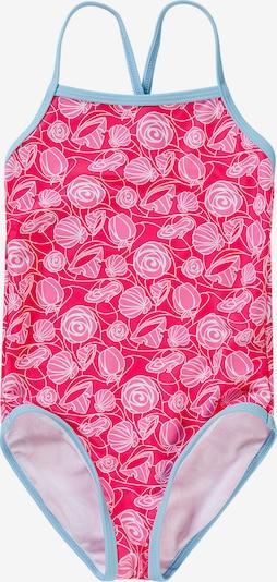 SWIMPY Badeanzug in hellblau / pink / hellpink, Produktansicht