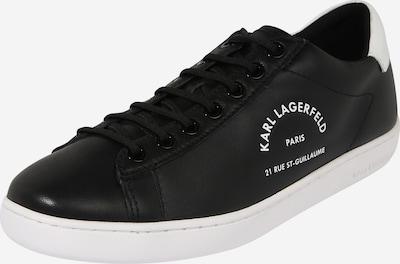 Karl Lagerfeld Baskets basses 'KUPSOLE II Maison Karl Lace' en noir / blanc, Vue avec produit