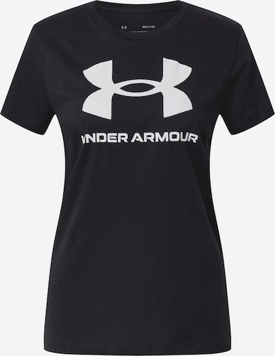 UNDER ARMOUR Shirt in schwarz / weiß, Produktansicht
