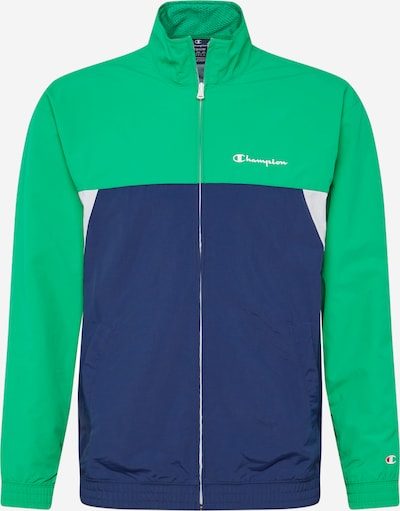 Champion Authentic Athletic Apparel Trainingsjack in de kleur Navy / Groen / Wit, Productweergave