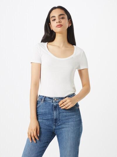 PIECES Shirt 'KAITLIN' in weiß, Modelansicht